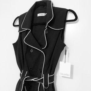 NWT Calvin Klein retro button-down dress